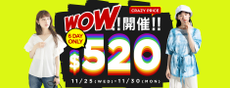 earthmusic&ecology-WOW!!開催3DAYONLY!!▶CRAZYPRICE-單件好好買$520!!◀
